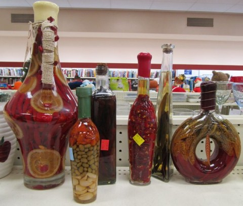 Decorative Bottles With Vegetables In Vinegar Impressive National Thrift Store Throwthesethingsout Week April 1620 Design Inspiration
